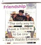 The gift of friendship.